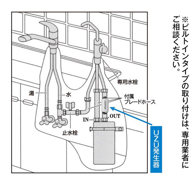 浄活水器4thウォーター・取り付け方法