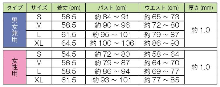 バイオエスペランザめぐり美ベストサイズ表