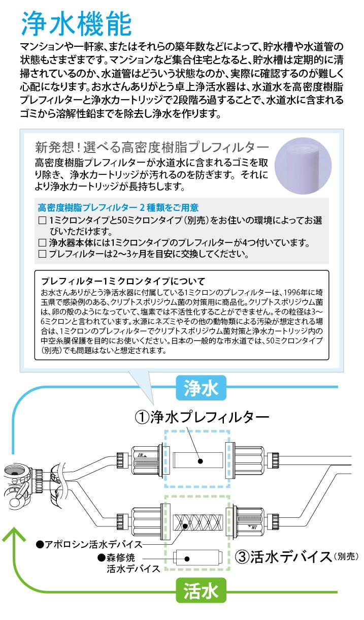浄水器プレフィルター