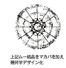 上記ムー結晶をマカバを加え 幾何学デザイン化